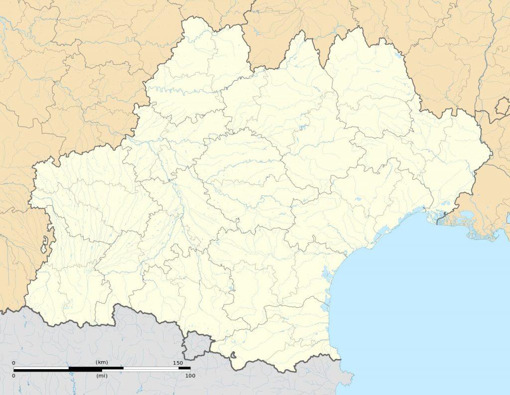 Carte vierge de l'Occitanie
