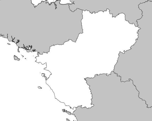 Carte vierge des Pays de la Loire