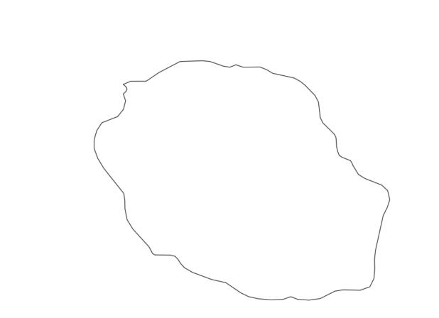 Carte vierge de la Réunion