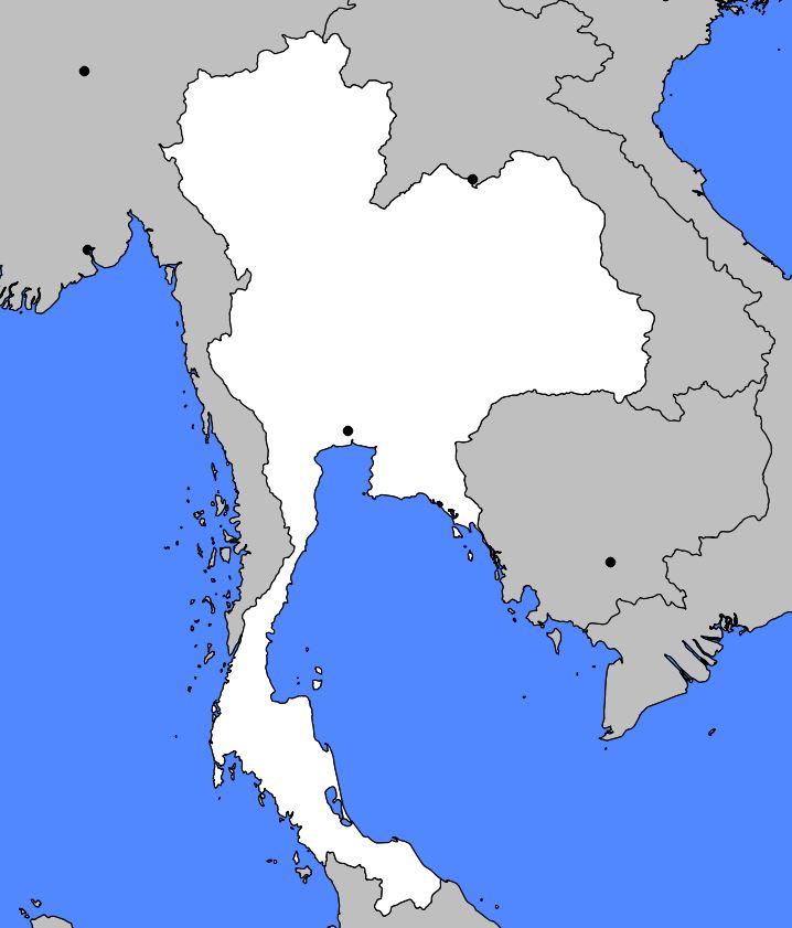 Carte de la Thaïlande - Cartes sur les reliefs, les villes, administrative, routière...