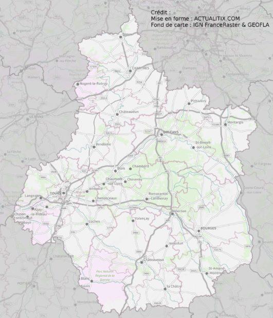Centre-Val de Loire carte
