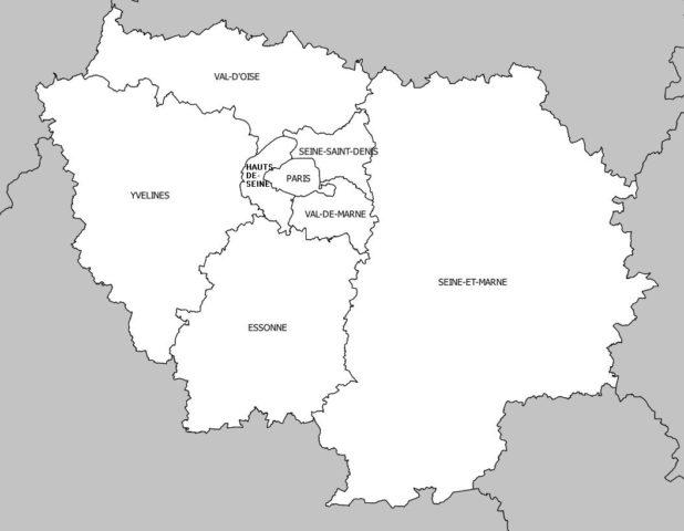 Nom des départements de la région Île-de-France