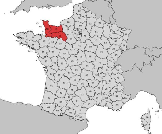 Emplacement de la Basse Normandie