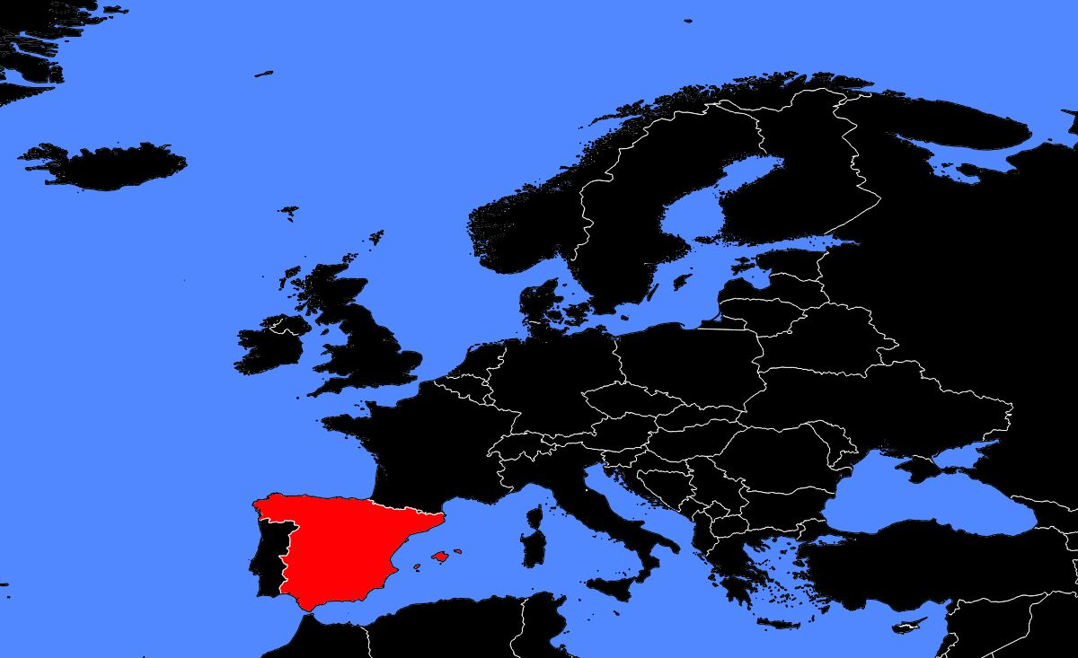 Espagne carte Europe