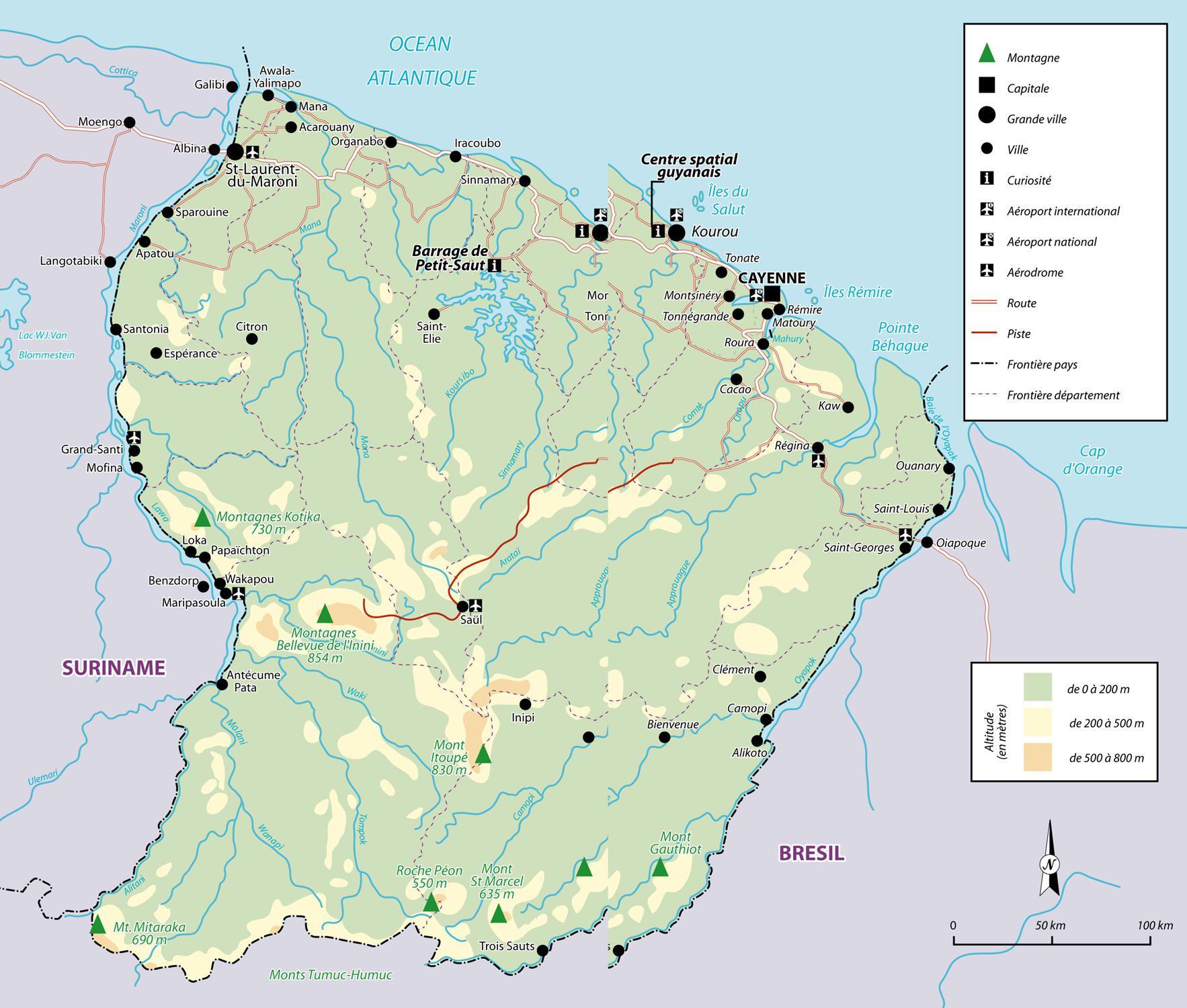 Guyane carte