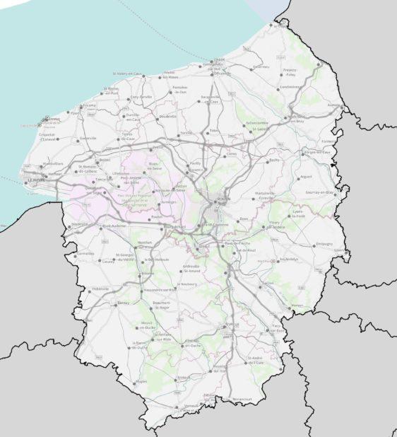 Haute Normandie carte détaillée