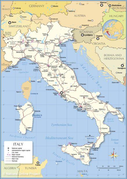 Italie carte