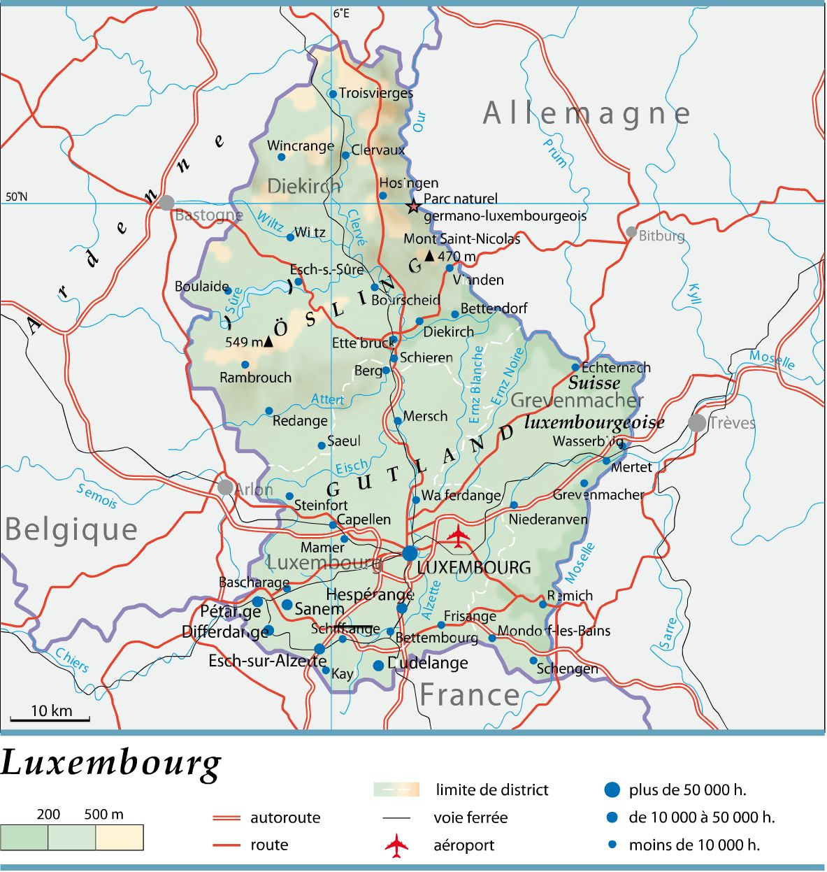 Luxembourg carte