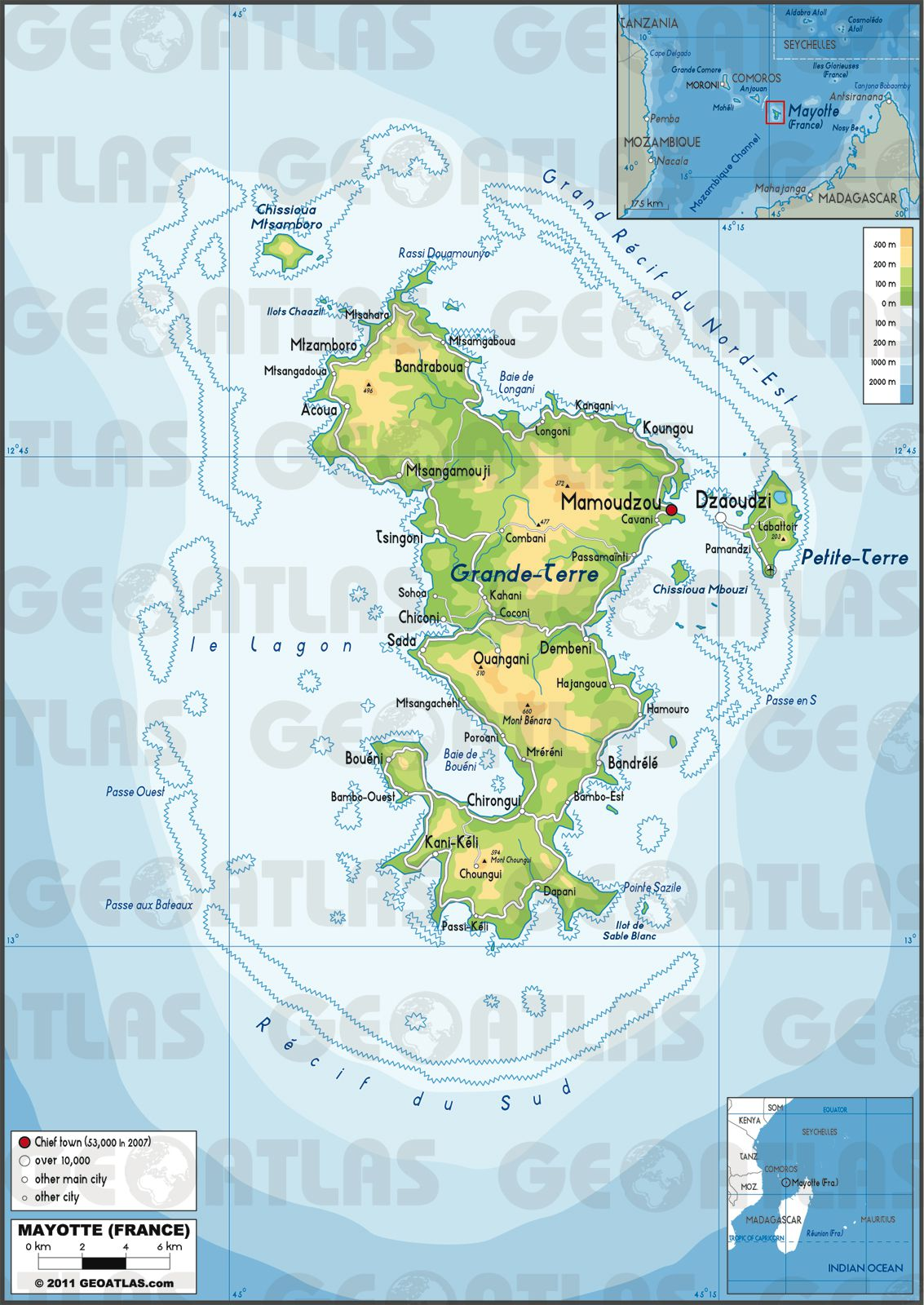 Mayotte carte
