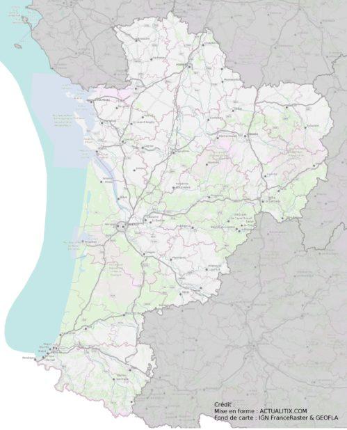 Nouvelle-Aquitaine carte