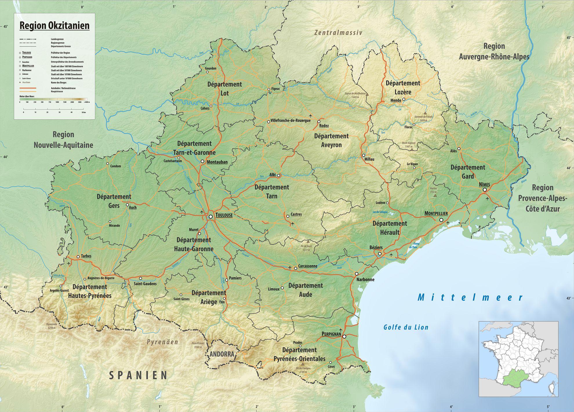 Occitanie carte