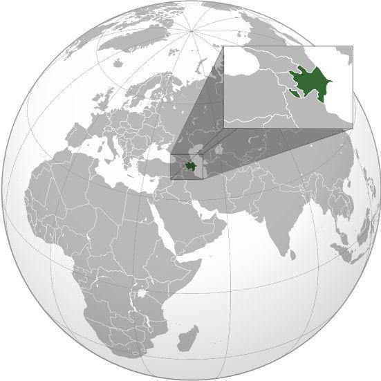 Où se trouve l'Azerbaïdjan sur une carte du monde ?