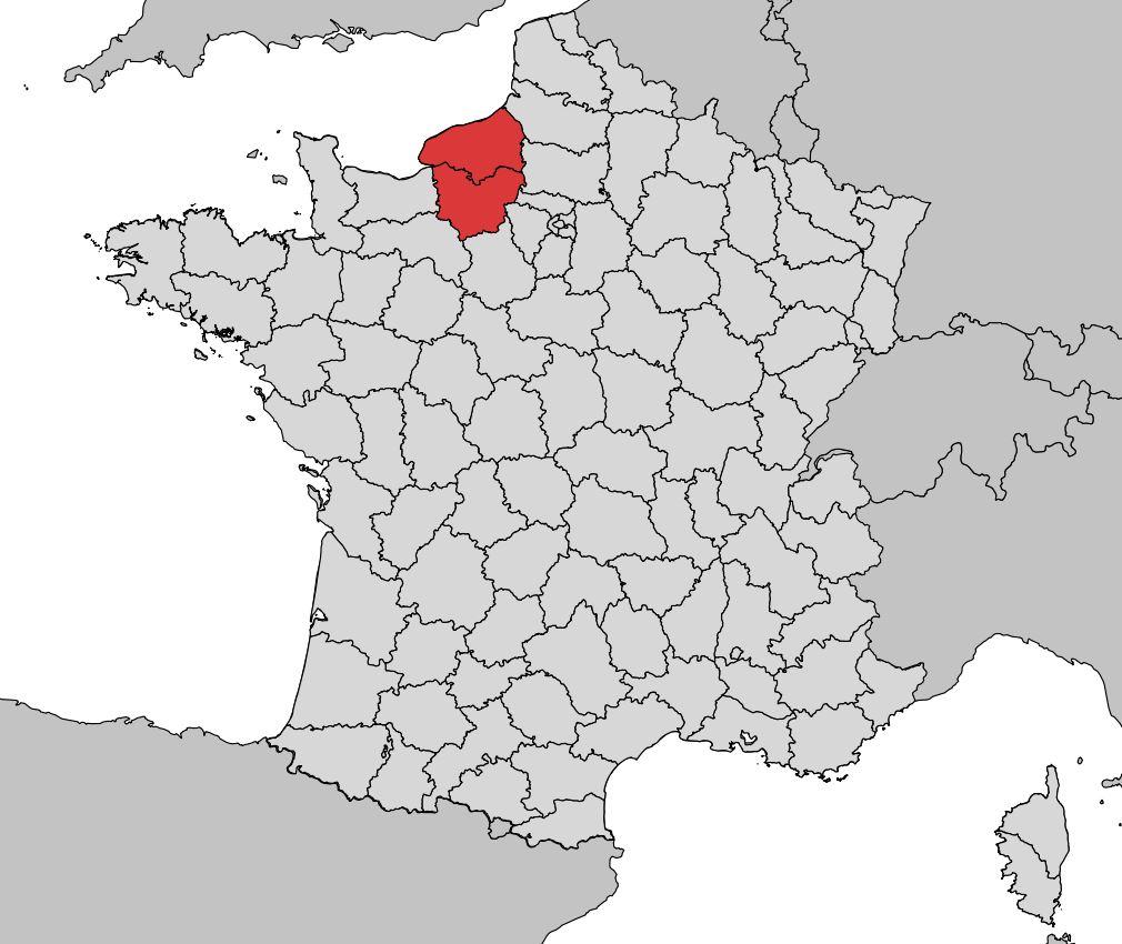 Carte De La Haute Normandie Plusieurs Carte De La Region