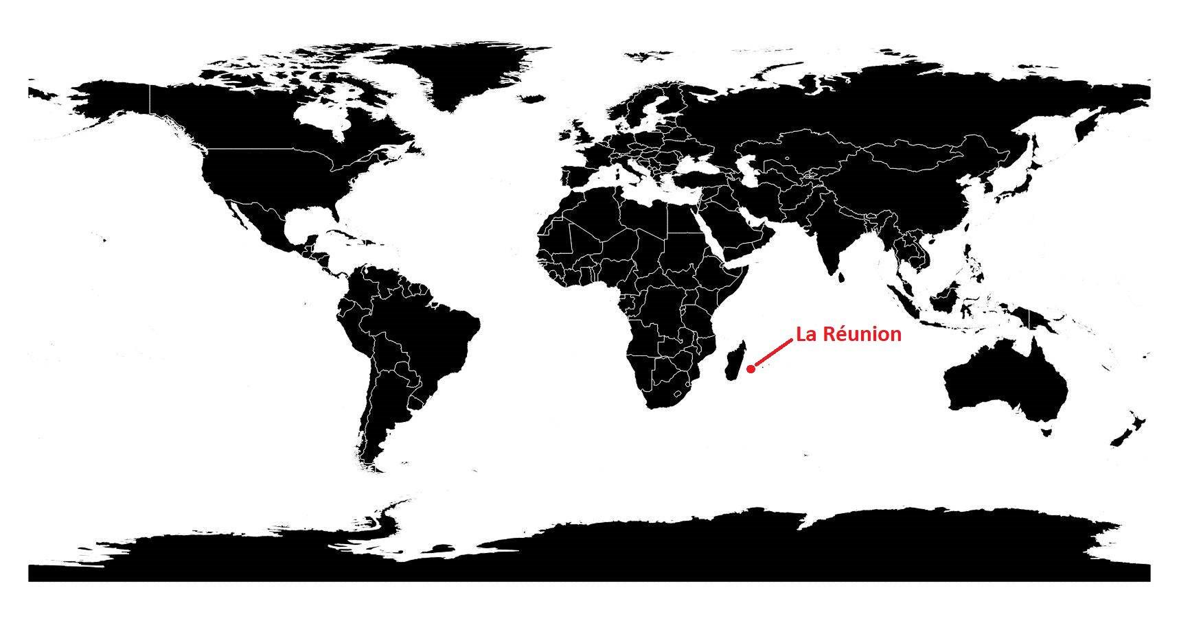 ile de la reunion carte du monde