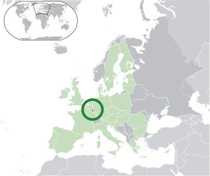 Où se trouve le Luxembourg sur une carte ?