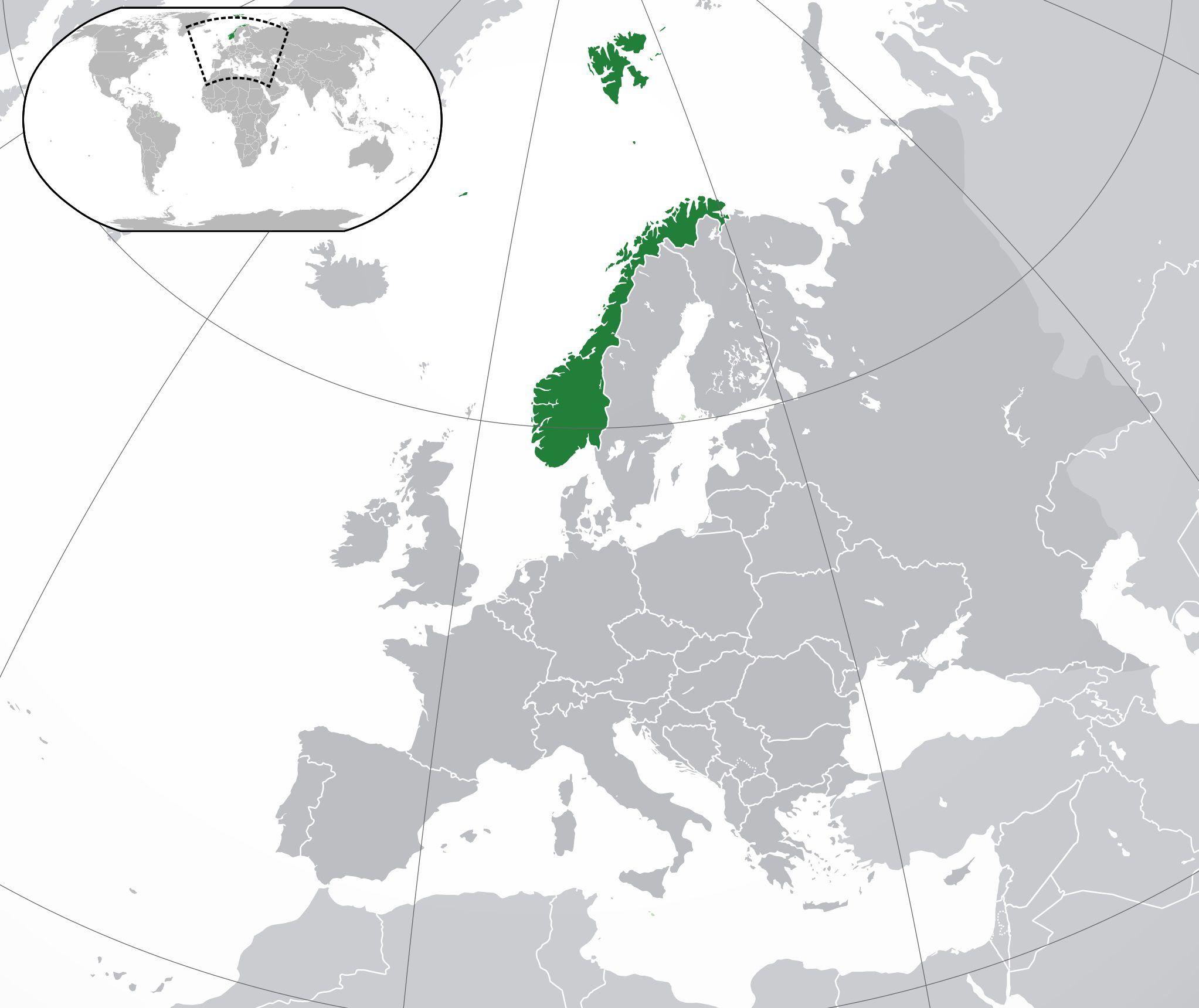 Où se trouve la Norvège sur une carte ?