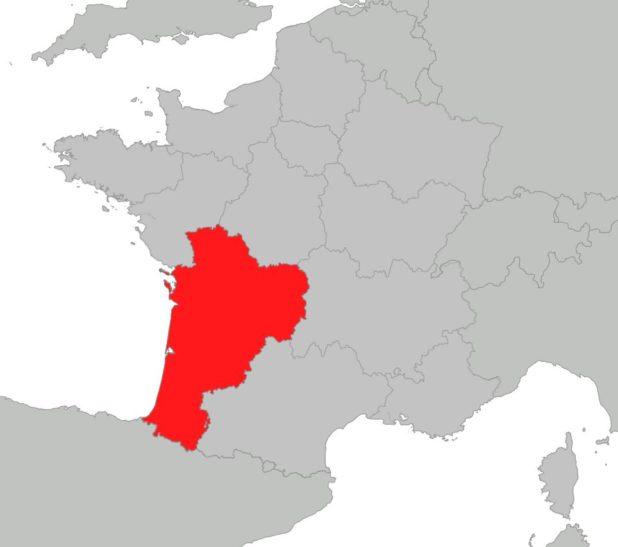 Où se trouve la région Nouvelle-Aquitaine sur une carte de la France