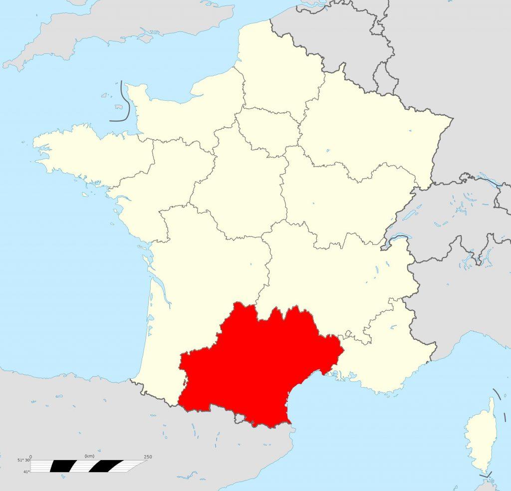 Où se trouve la région Occitanie en France ?