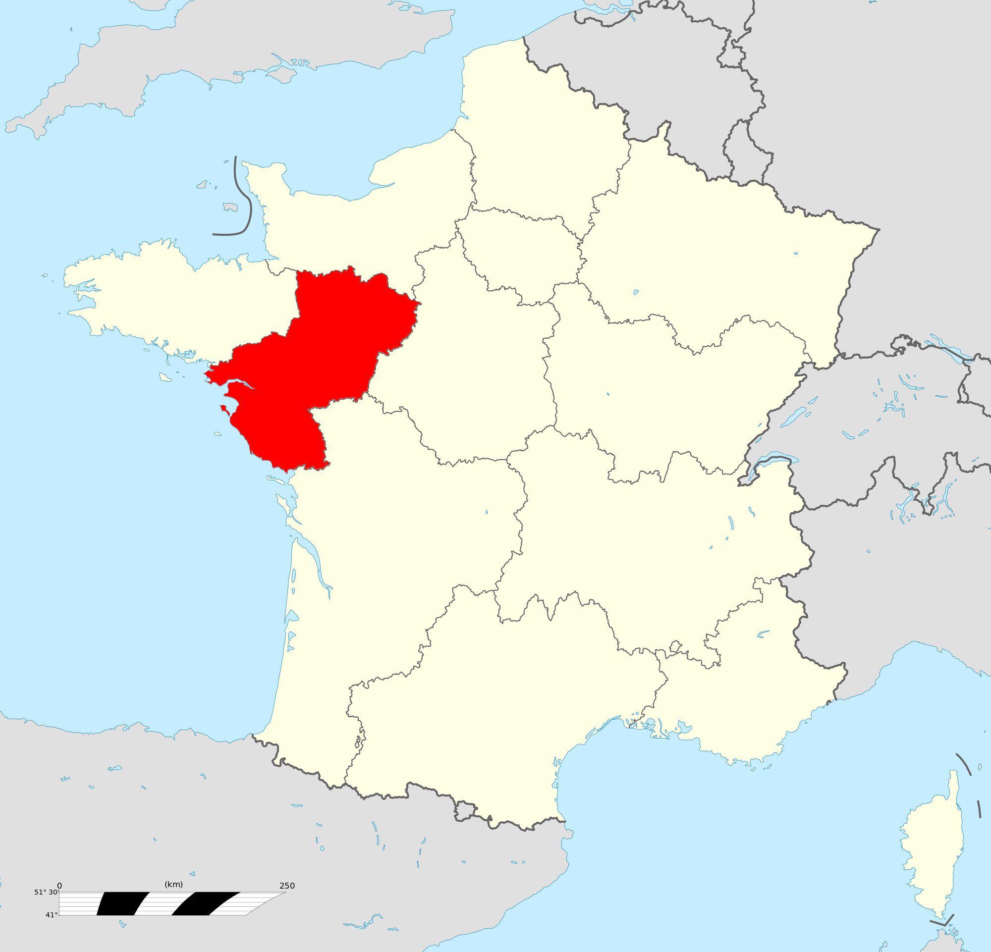 Où se trouve la région des Pays de la Loire en France ?