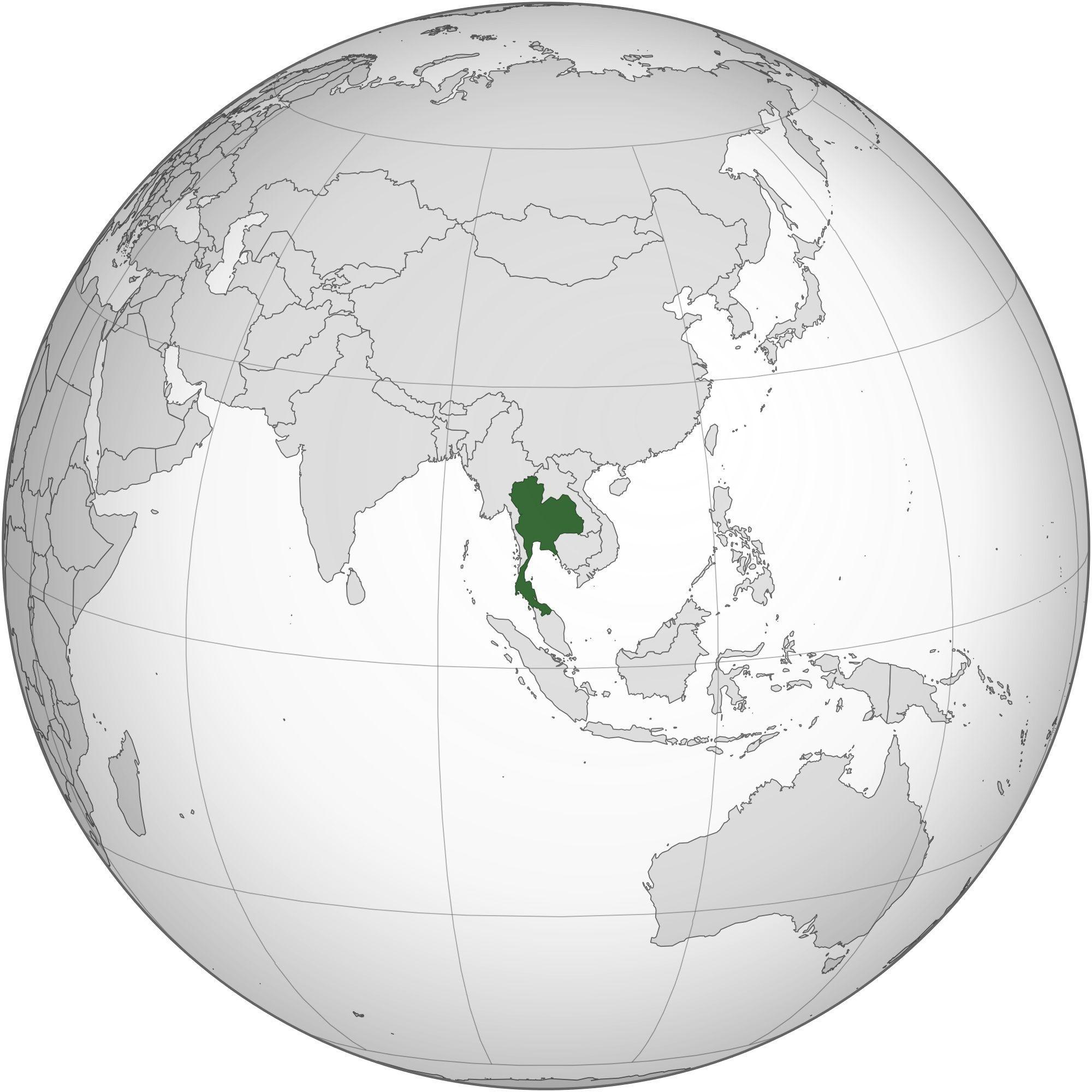 Où se trouve la Thaïlande sur une carte ?