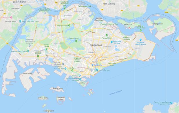 Singapour carte Google