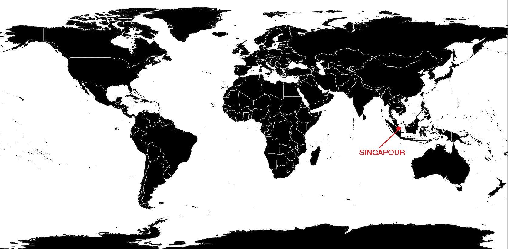 Singapour carte du monde