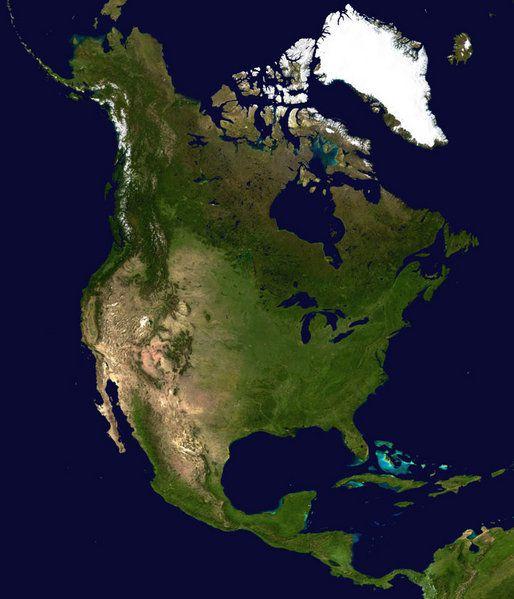Vue satellite Amérique du Nord et Centrale