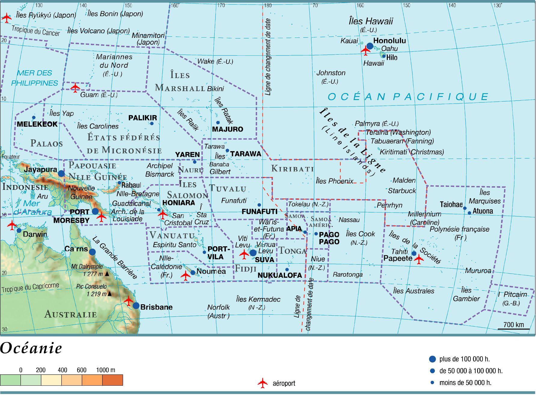 Autre carte de l'Océanie