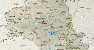 Carte de l'Aveyron