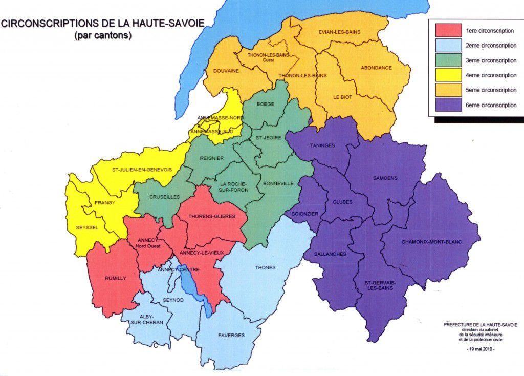 Carte de la haute savoie haute savoie carte des villes - Chambre des notaires haute savoie ...