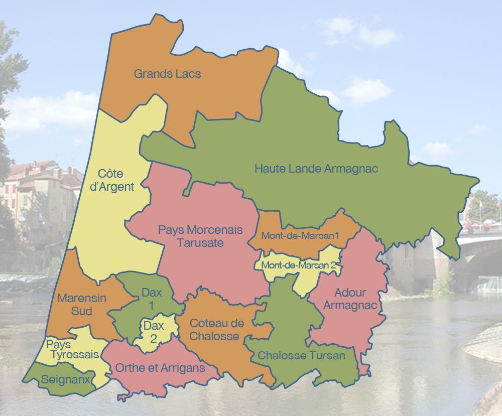 Carte Des Landes Landes Carte Des Villes Communes