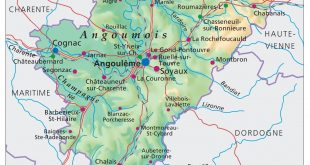 Carte de la Charente