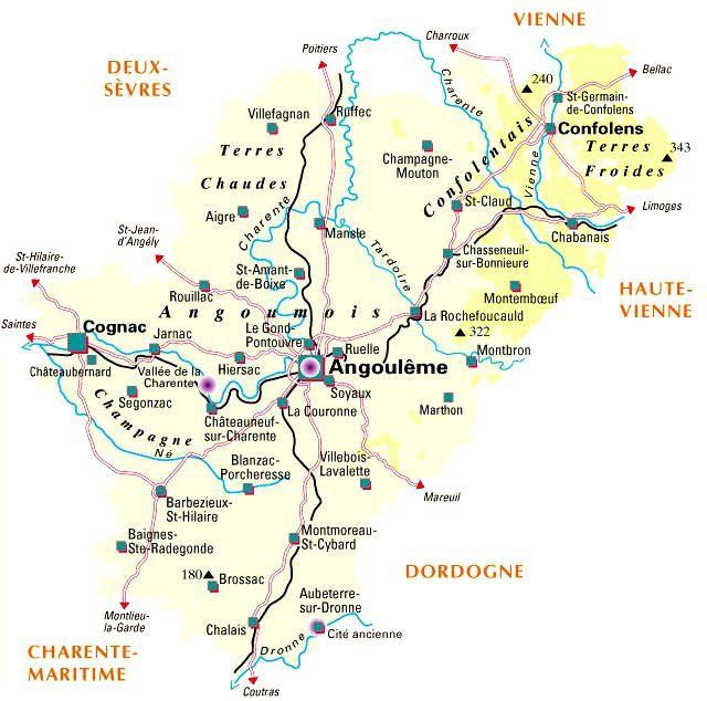 Carte de la Charente - Politique