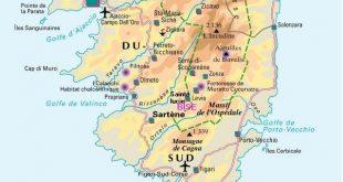 Carte de la Corse-du-Sud