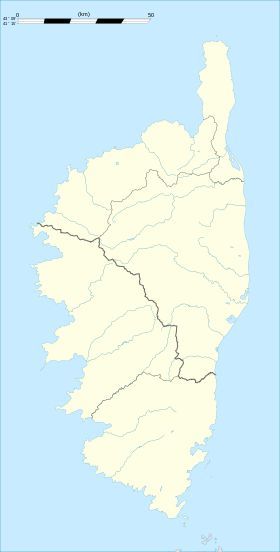 Carte de la Corse-du-Sud vierge
