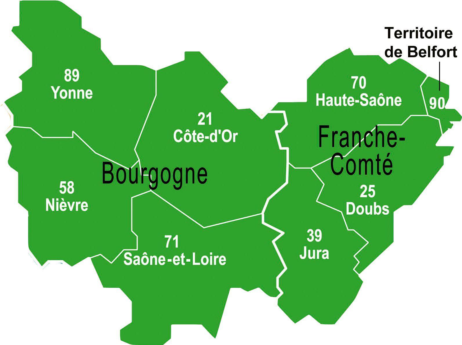 carte région bourgogne franche comté Carte Region Bourgogne 2012 Free Ebook | Haryana Gk Book In Hindi