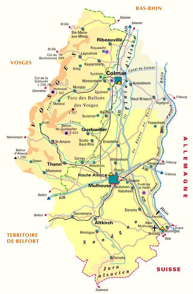 Carte du Haut-Rhin - Politique