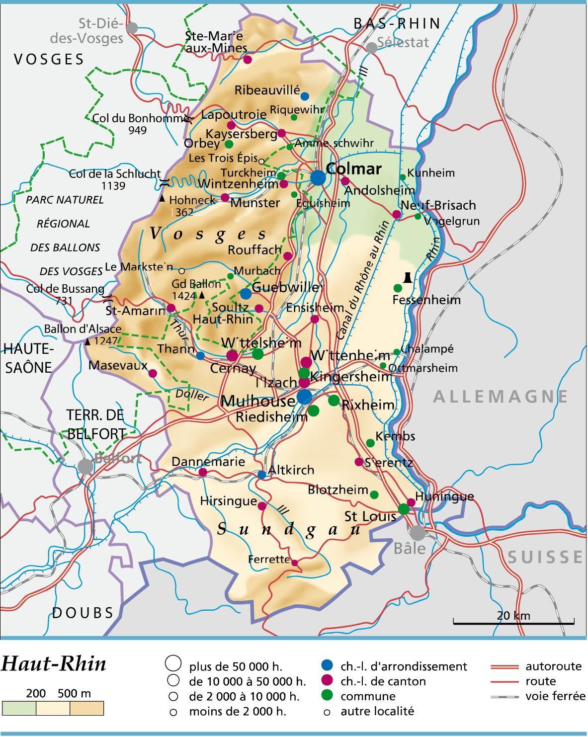 Carte du Haut-Rhin