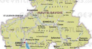 Carte de la Haute-Savoie