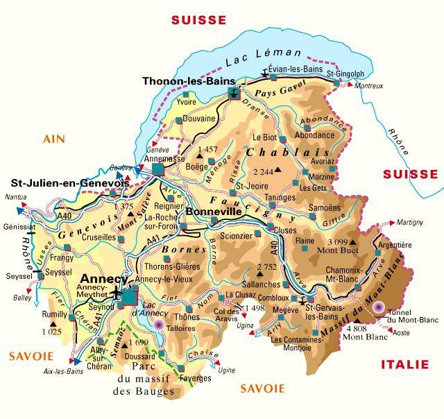 Carte de la Haute-Savoie - Politique