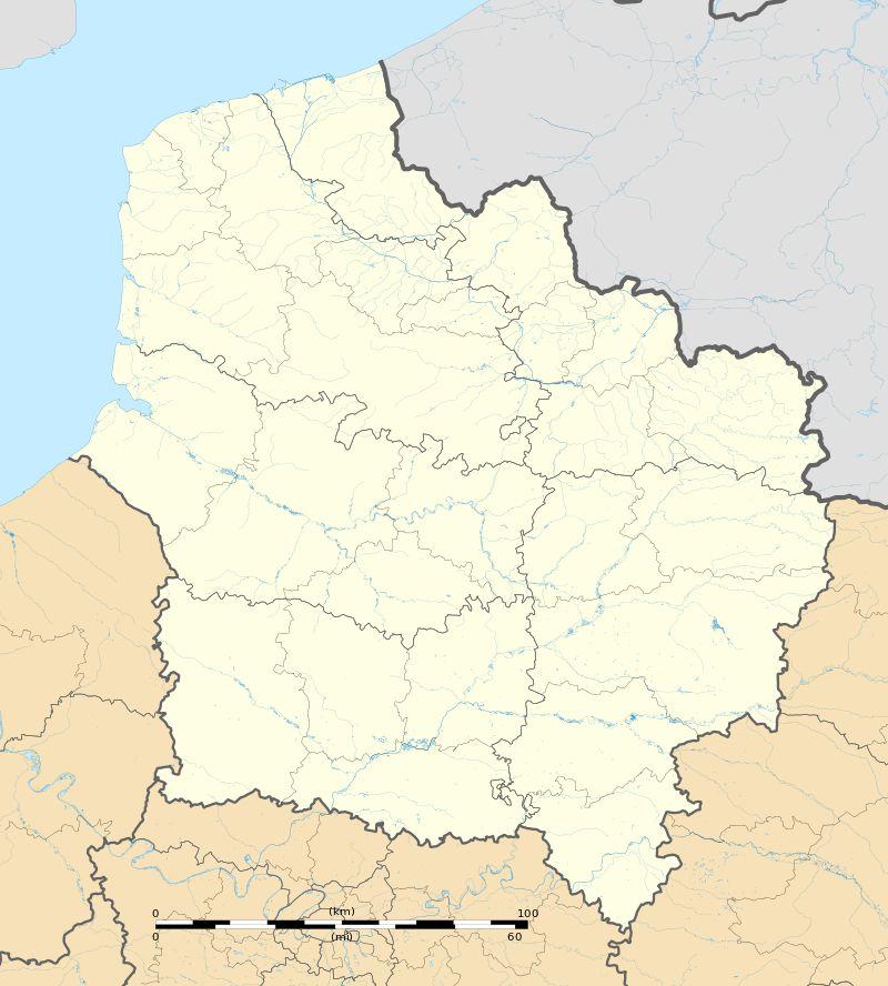 Carte de Hauts-de-France vierge