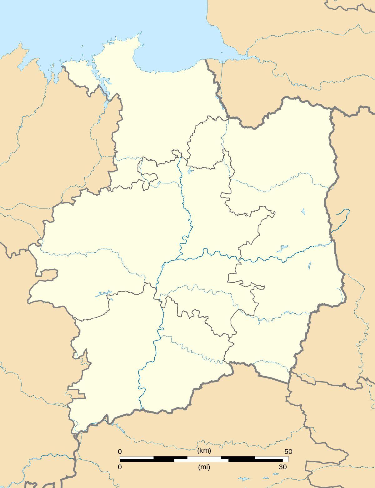 Carte de l'Ille-et-Vilaine vierge