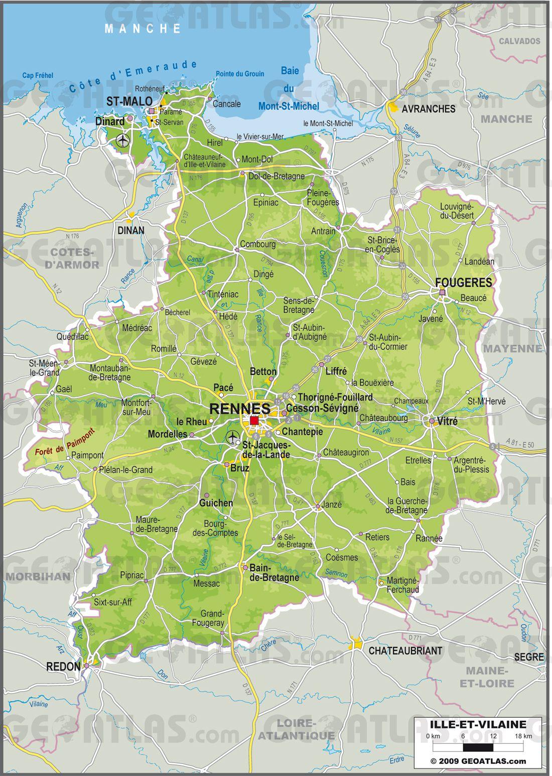Carte de l'Ille-et-Vilaine - Politique