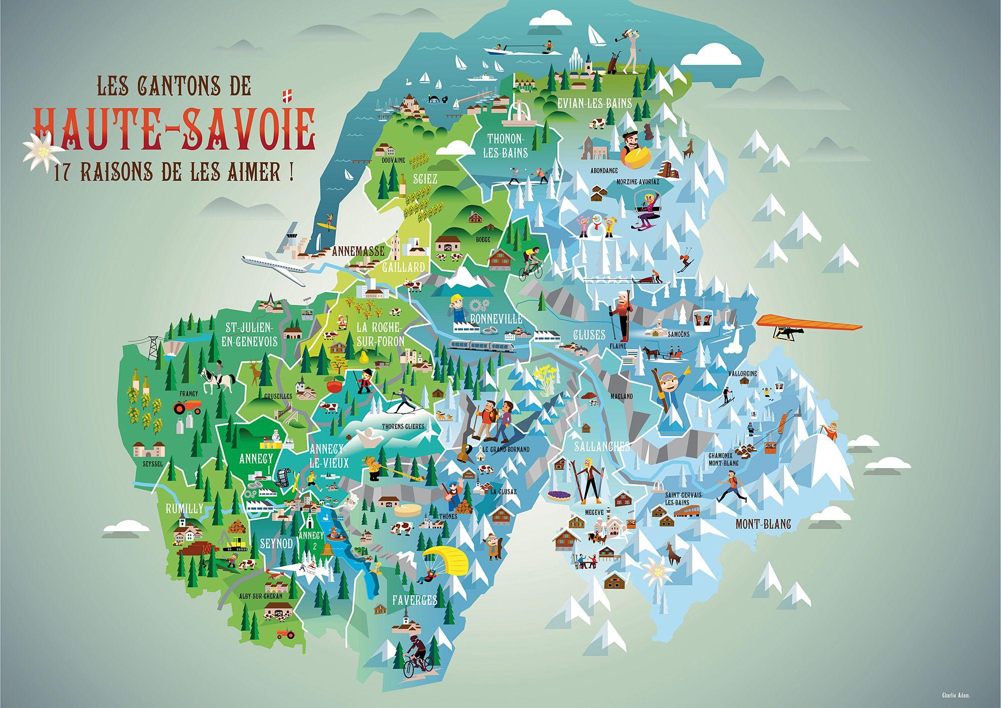 haute savoie carte touristique - Image