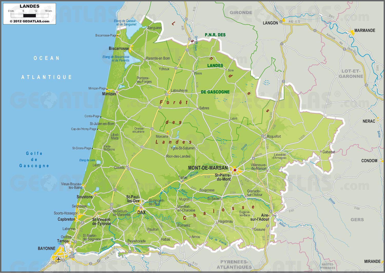 carte des landes - Photo
