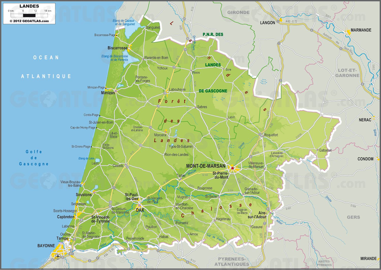 carte des landes -