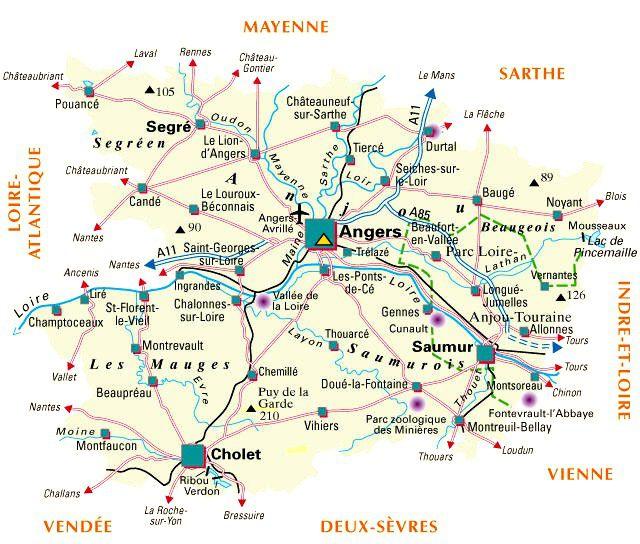 Carte du Maine-et-Loire - Politique