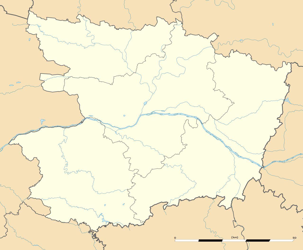 Carte du Maine-et-Loire vierge