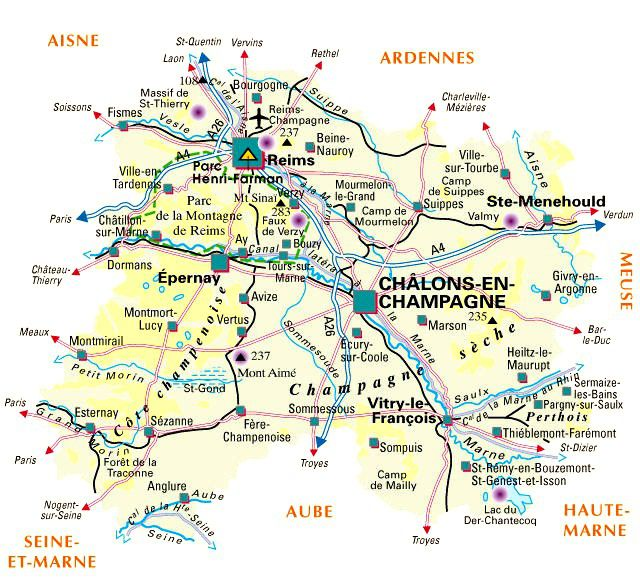 Carte de la marne voyages cartes for Haute marne carte