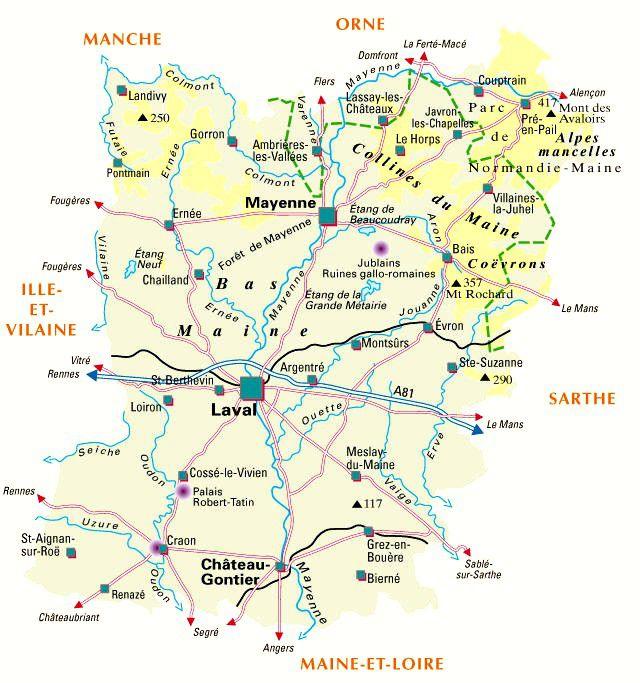 Carte de la Mayenne - Politique